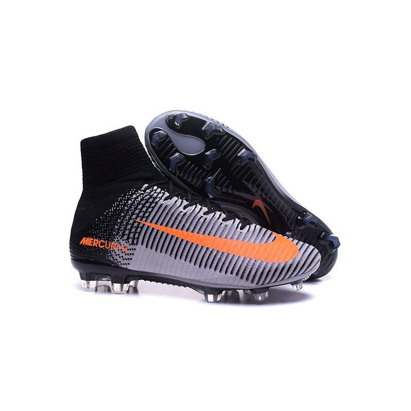 authentic nike soccer boots mercurial superfly v fg for men black white  orange c267d 9aa9c a343b6824ca44