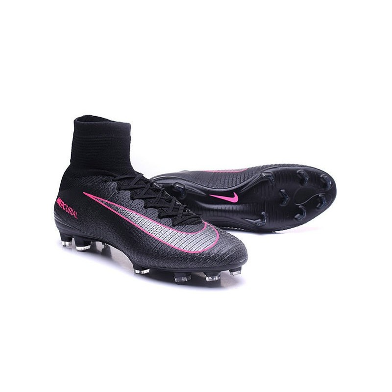 ab529711a075 Nike Soccer Boots Mercurial Superfly V FG For Men -Black Pink Maximize.  Previous. Next
