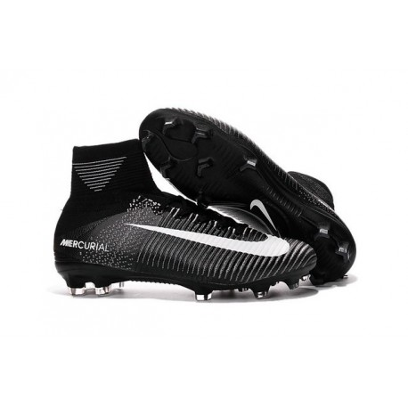 Nike Soccer Boots Mercurial Superfly V FG For Men -Black White