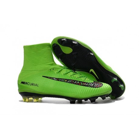 97ff98d60ad0 Nike Mercurial Superfly V FG Firm Ground Cleats Green Black