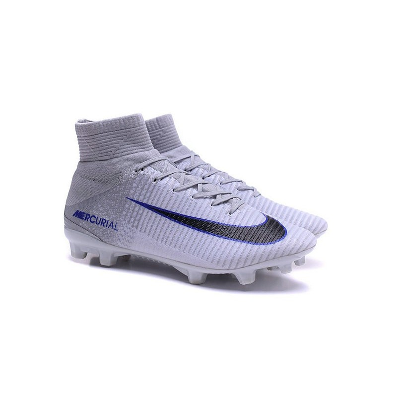 finest selection 5a929 ad26e Nike Mercurial Superfly V FG Firm Ground Cleats White Black