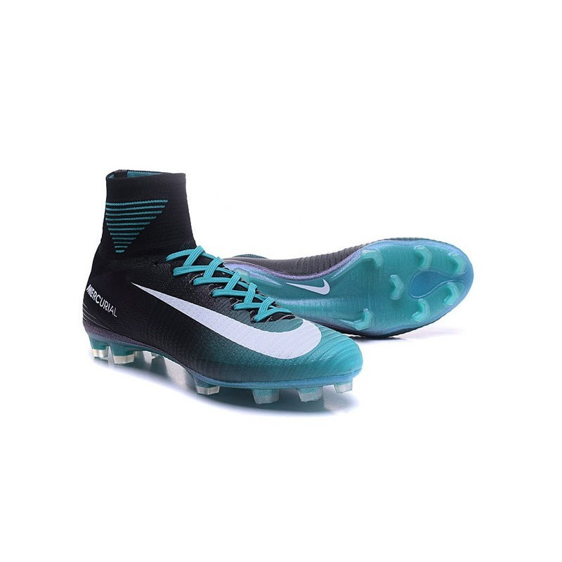fadc91fdd75 Nike New Mercurial Superfly 5 FG Cristiano Ronaldo Shoes Black Blue White  Maximize. Previous. Next