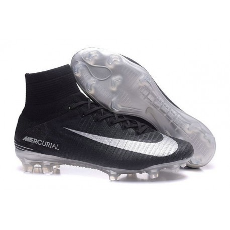f56bf29442f Nike Mercurial Superfly V FG News Soccer Cleats Black Silver
