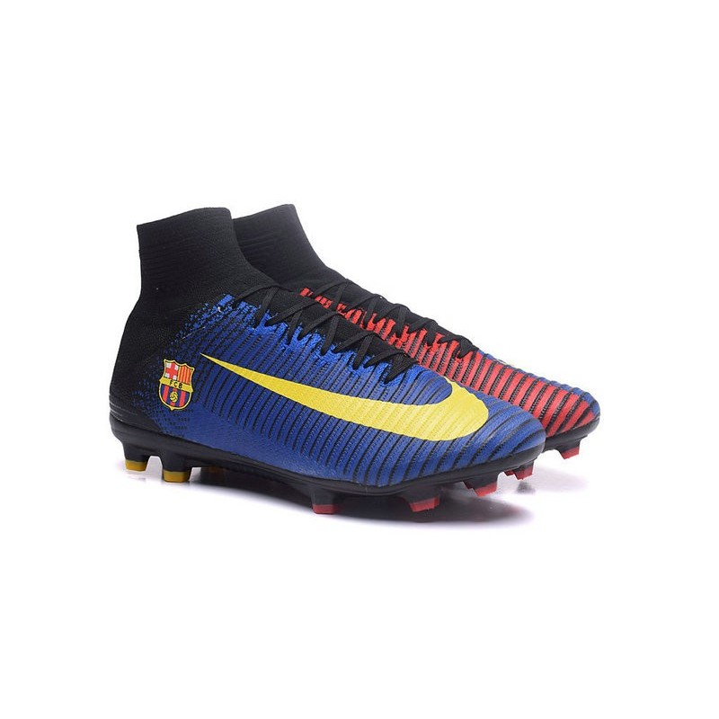 a6d7642b2e4 Nike Mercurial Superfly V FG News Soccer Cleats Barcelona FC Blue Red