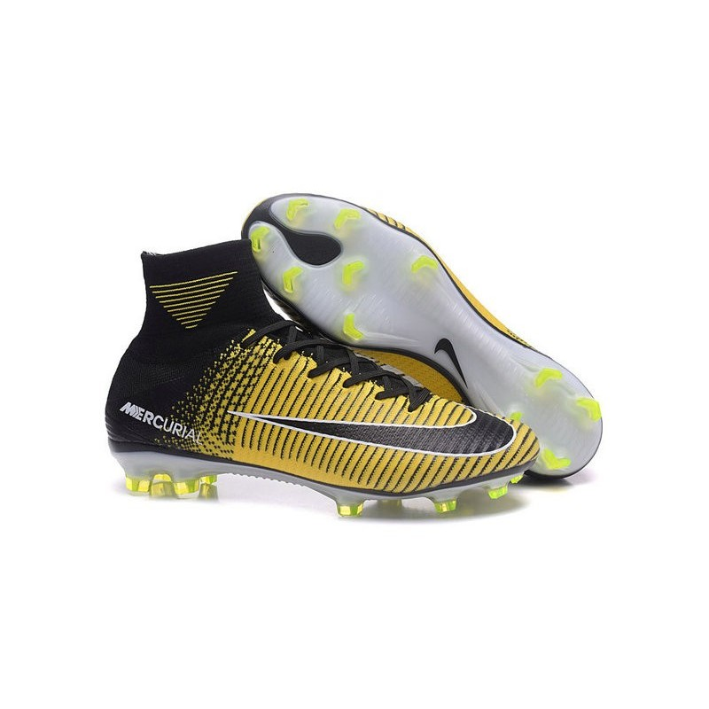 quality design aa606 a3346 Nike Mercurial Superfly 5 FG Top Boot Yellow Black