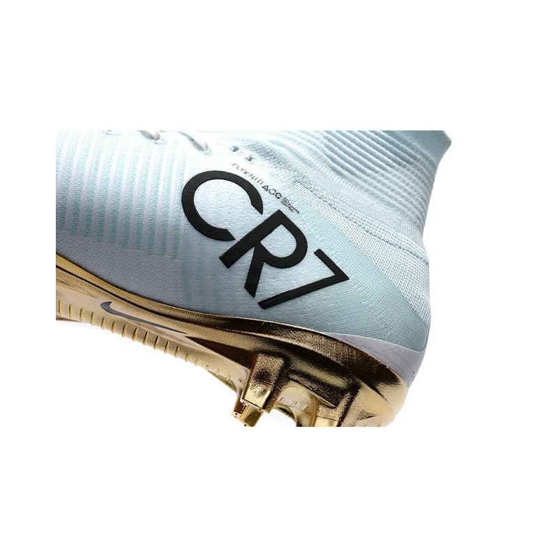 5b5e8dfc649 Nike Mercurial Superfly 5 CR7 Vitórias FG Top Boot White Gold Maximize.  Previous. Next