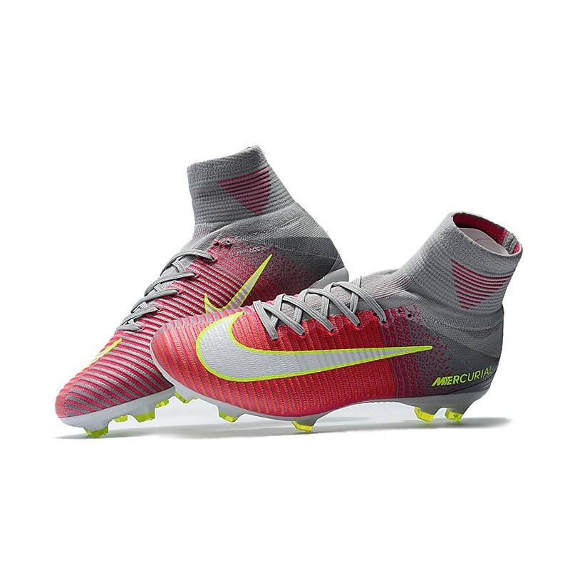 a2e4667c8 Nike Mens Mercurial Superfly 5 FG ACC Firm Ground Football Boot Pink Grey  White Maximize. Previous. Next