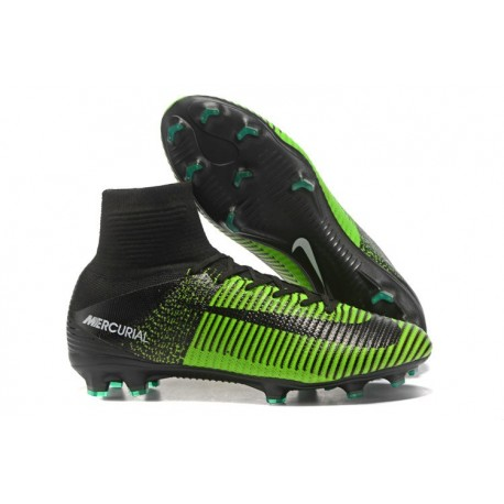 Nike Mercurial Superfly V FG News Top Soccer Cleats Green Black