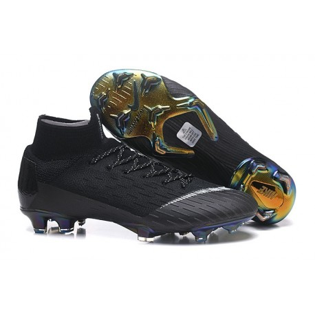 Nike Mercurial Superfly 6 Elite FG Football Cleat - Black White