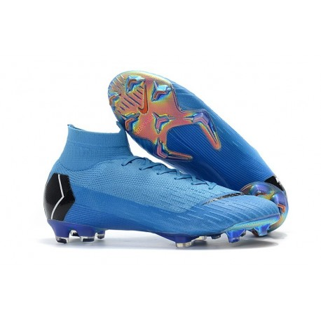 Nike Mercurial Superfly 6 Elite FG Football Cleat - Blue Black