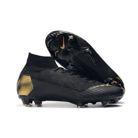 Nike Mercurial Superfly 6 Elite DF FG Soccer Cleats - Black Golden