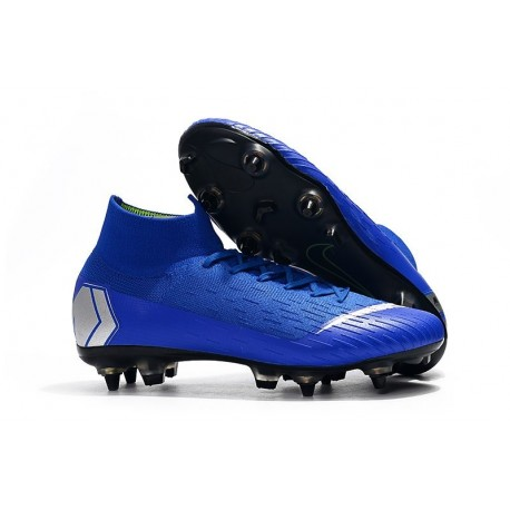 Nike Mercurial Superfly VI Elite Anti-Clog SG-Pro Blue Silver