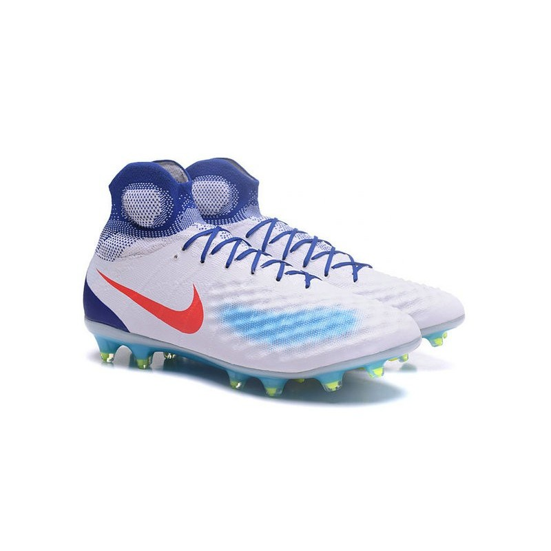 buy popular 372bc 50124 Nike Magista Obra 2 FG Frim Ground Shoes White Jade Red