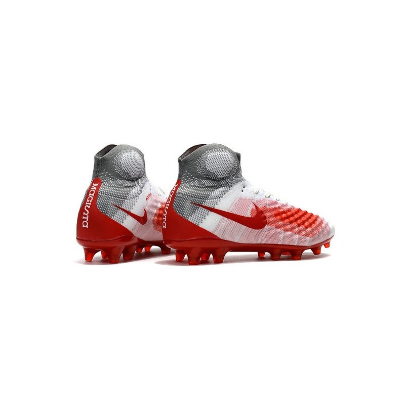 factory price 65802 13a1a Nike Magista Obra II FG High Top Boots White Red Maximize. Previous. Next