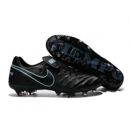 Nike Leather Tiempo Legend 6 FG Firm Ground Cleats -Black