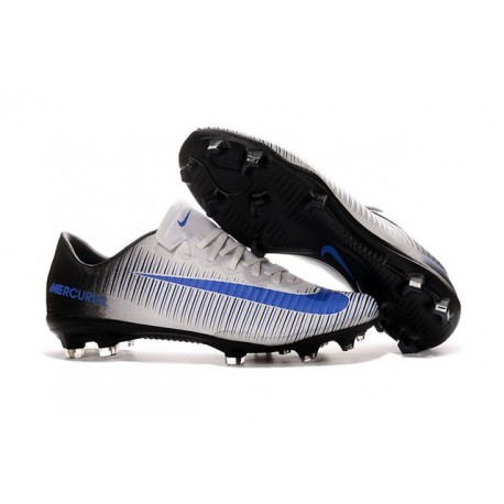 first rate fresh styles online here Nike Mercurial Vapor XI FG Man Soccer Boots White Blue Black