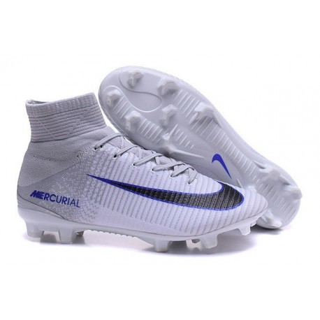 finest selection 72d14 10534 Nike Mercurial Superfly V FG Firm Ground Cleats White Black