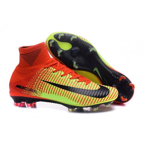 the latest cca87 96028 Nike New Mercurial Superfly 5 FG Cristiano Ronaldo Shoes Green Red Black