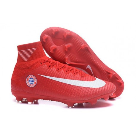 Nike Mercurial Superfly V FG News Soccer Cleats FC Bayern München Red