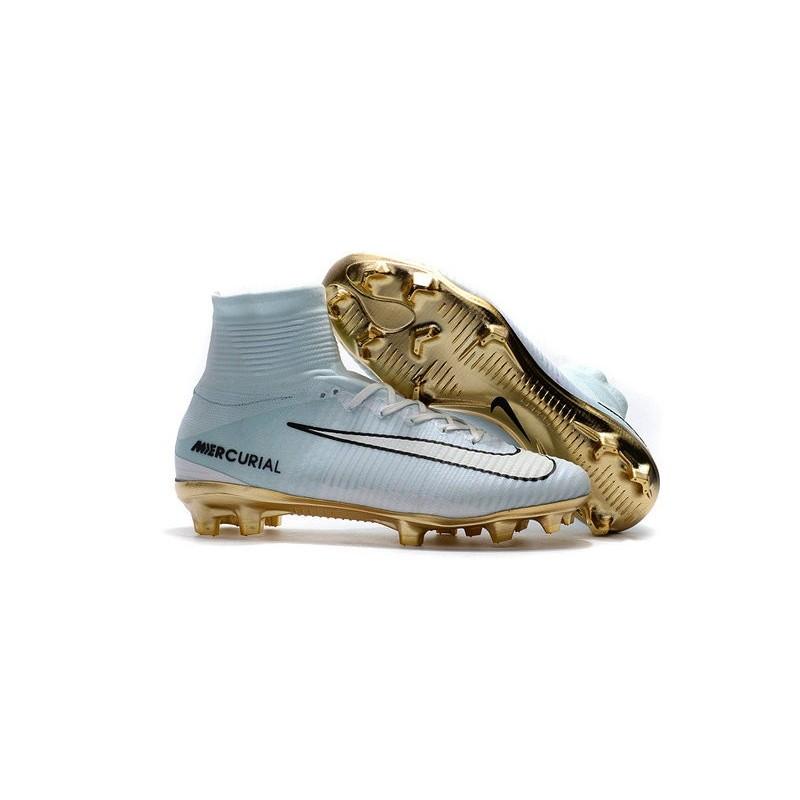check out 3e3c8 e021e Nike Mercurial Superfly 5 CR7 Vitórias FG Top Boot White Gold