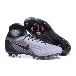 Nike Magista Obra II FG New 2017 Soccer Cleat Gray Black