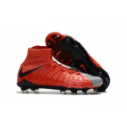 Nike Hypervenom Phantom III DF FG New Boots - Red Grey