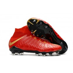 Nike Hypervenom Phantom III DF FG New Boots - Red Golden