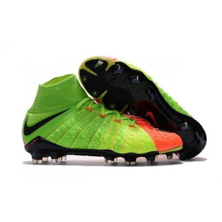 Nike Hypervenom Phantom III DF FG New Boots - Electric Green Orange
