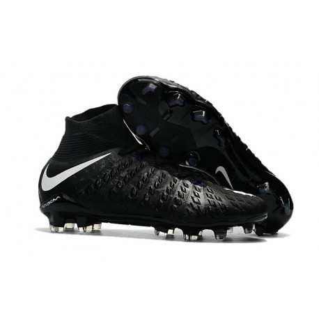 Nike 2017 Hypervenom Phantom 3 DF FG ACC Football Cleats Black White