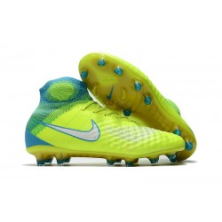 Nike Magista Obra II FG New 2017 Soccer Cleat Yellow Blue