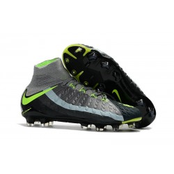 Nike 2017 Hypervenom Phantom 3 DF FG ACC Air Max Grey Green Black