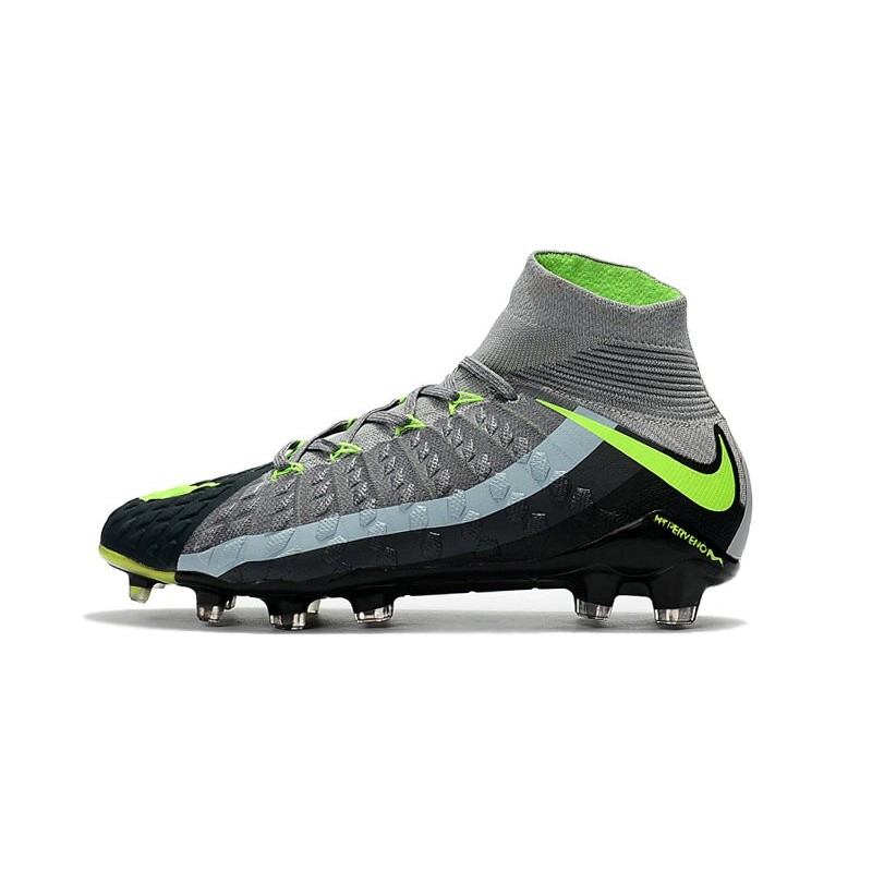 Nike 2017 Hypervenom Phantom 3 DF FG ACC Air Max Grey Green