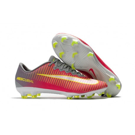 san francisco 98d47 7b2b6 Nike Mercurial Vapor XI FG Firm Ground Boots Pink Grey