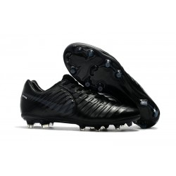 Nike Tiempo Legend 7 FG News Leather Soccer Cleat - All Black
