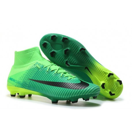 separation shoes c6d9c fed25 Nike Mens Mercurial Superfly 5 FG ACC Firm Ground Football Boot Green Black