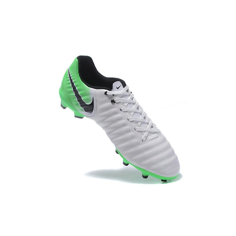 uk availability 7dc44 b3d4c Nike Tiempo Legend VII FG Mens Firm Ground Boots - White Green