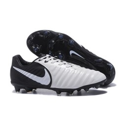 Nike Tiempo Legend VII FG Mens Firm Ground Boots - White Black
