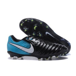 Nike Tiempo Legend VII FG Mens Firm Ground Boots - Black Blue