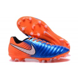 Nike Tiempo Legend VII FG Mens Firm Ground Boots - Blue Orange