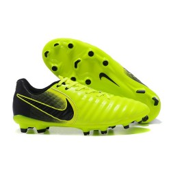 Nike Tiempo Legend VII FG Mens Firm Ground Boots - Green Black