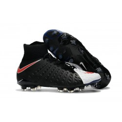 Nike 2017 Hypervenom Phantom 3 DF FG ACC Football Cleats Black White Red