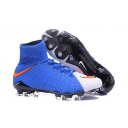 Nike 2017 Hypervenom Phantom 3 DF FG ACC Football Cleats Blue White