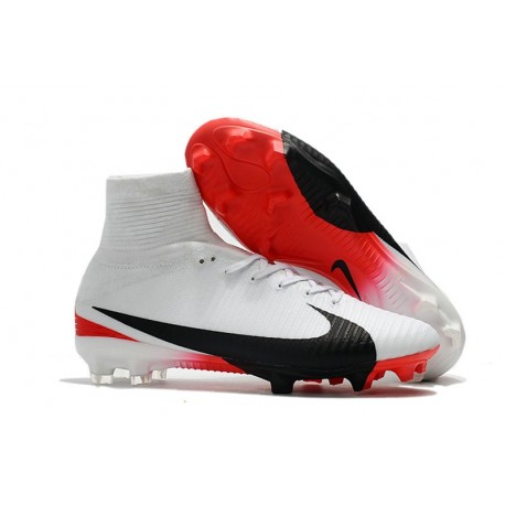 29a05343a9c Nike Mercurial Superfly V FG News Top Soccer Cleats White Black Red