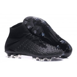 Nike 2017 Hypervenom Phantom 3 DF FG ACC Football Cleats Full Black