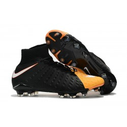 Nike 2017 Hypervenom Phantom 3 DF FG ACC Football Cleats Black Orange