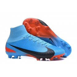 Nike High Top Mercurial Superfly 5 FG ACC Boot Blue Black Red