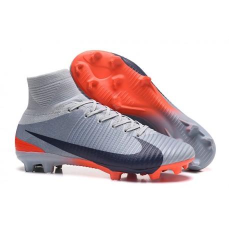 watch 1f3f5 46ebf Nike High Top Mercurial Superfly 5 FG ACC Boot Grey Black