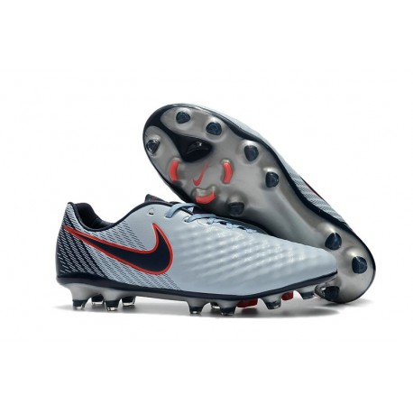 Nike Magista Opus II FG Mens Firm Ground Soccer Shoes in Grey