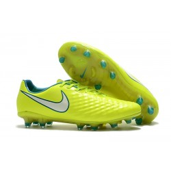 Nike Magista Opus 2 FG Mens Soccer Shoes in Volt