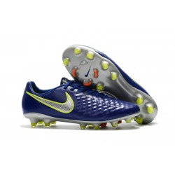 Nike Magista Opus 2 FG Mens Soccer Shoes Dark Blue Silver